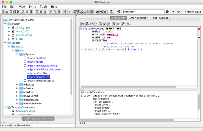 MIB Designer Screenshot Main Window